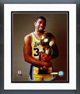 Los Angeles Lakers Magic Johnson with the 1985 Championship Trophy Framed Photo