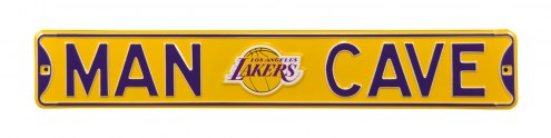 Los Angeles Lakers Man Cave Street Sign