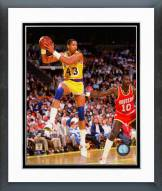 Los Angeles Lakers Mychal Thompson 1987 Action Framed Photo