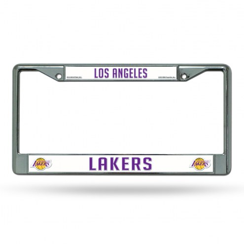 Los Angeles Lakers NBA Chrome License Plate Frame