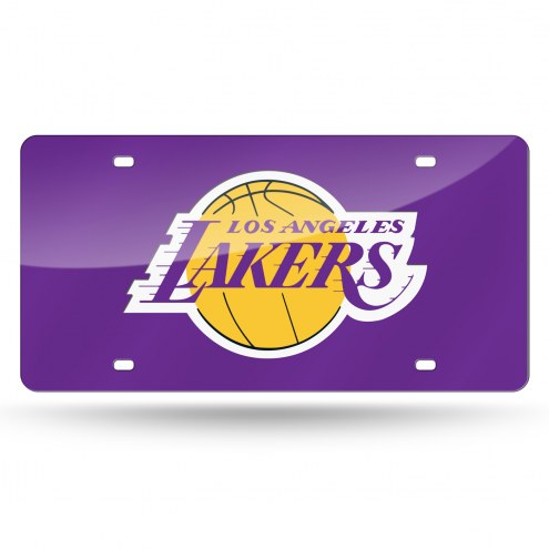 Los Angeles Lakers NBA Laser Cut License Plate