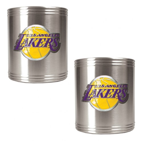 Los Angeles Lakers NBA Stainless Steel Can Holder 2-Piece Set