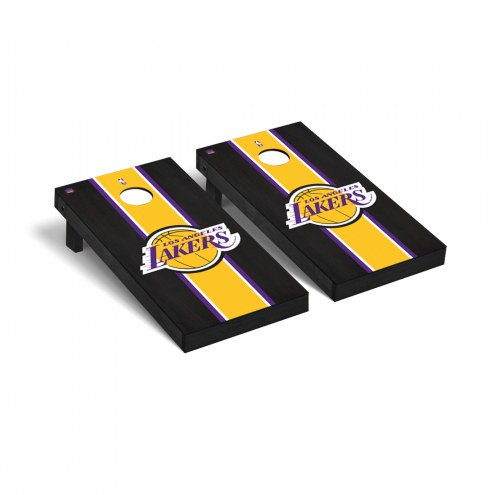 Los Angeles Lakers Onyx Stained Cornhole Game Set