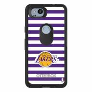 Los Angeles Lakers OtterBox Google Pixel 2 Symmetry Stripes Case