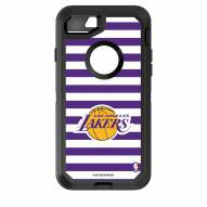 Los Angeles Lakers OtterBox iPhone 8/7 Defender Stripes Case