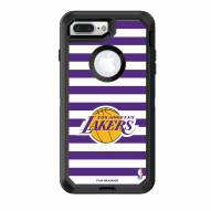 Los Angeles Lakers OtterBox iPhone 8 Plus/7 Plus Defender Stripes Case