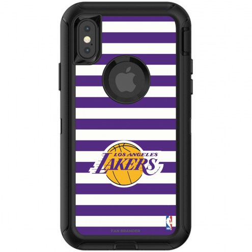Los Angeles Lakers OtterBox iPhone X/Xs Defender Stripes Case