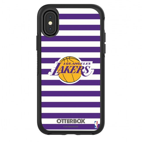 Los Angeles Lakers OtterBox iPhone X/Xs Symmetry Stripes Case