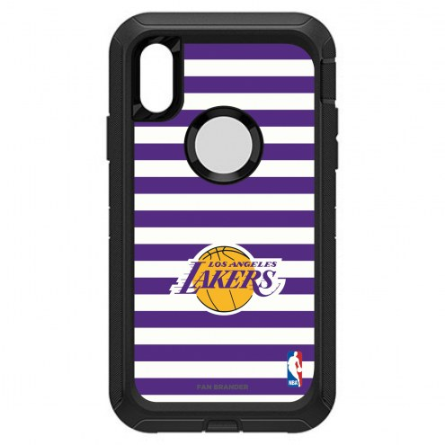 Los Angeles Lakers OtterBox iPhone XR Defender Stripes Case