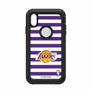 Los Angeles Lakers OtterBox iPhone XS Max Defender Stripes Case