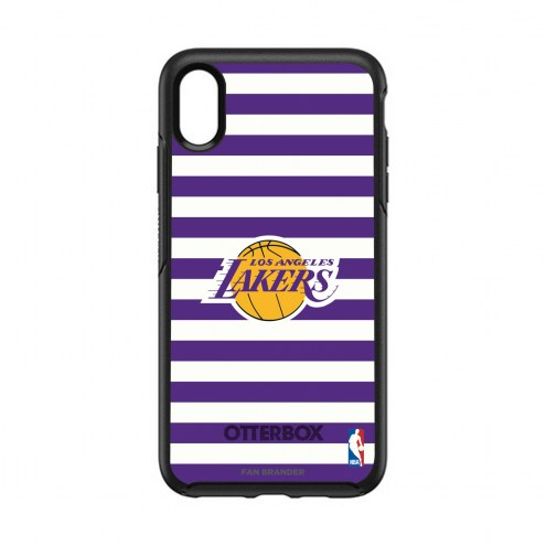 Los Angeles Lakers OtterBox iPhone XS Max Symmetry Stripes Case