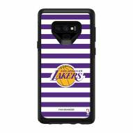 Los Angeles Lakers OtterBox Samsung Galaxy Note9 Symmetry Stripes Case