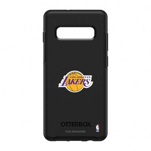 Los Angeles Lakers OtterBox Samsung Galaxy S10+ Symmetry Black Case