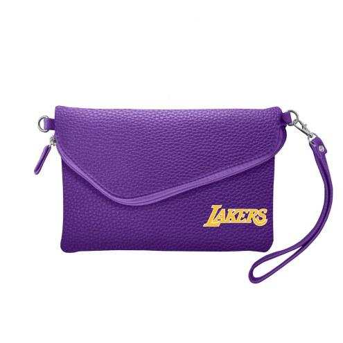 Los Angeles Lakers Pebble Fold Over Purse