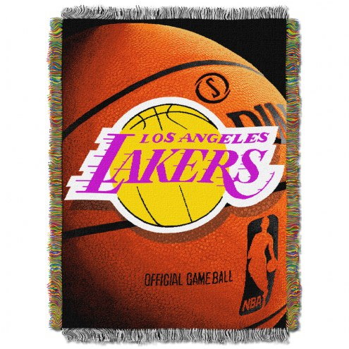 Los Angeles Lakers Photo Real Throw Blanket