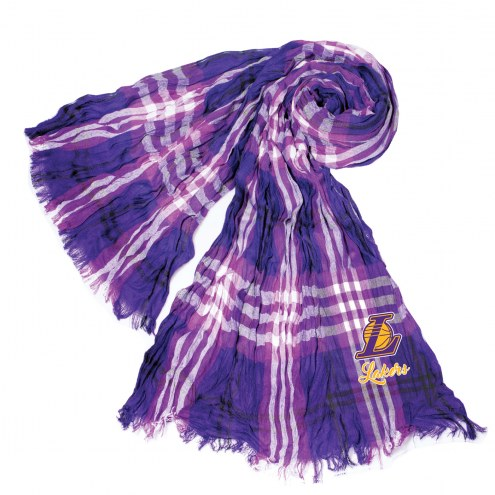 Los Angeles Lakers Plaid Crinkle Scarf
