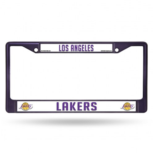 Los Angeles Lakers Purple Colored Chrome License Plate Frame