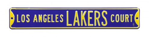 Los Angeles Lakers Purple Street Sign