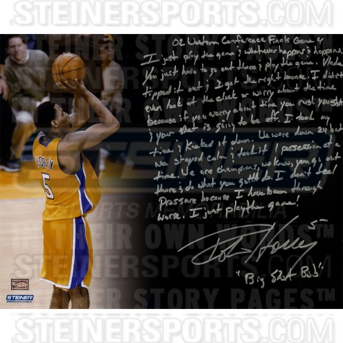 "Los Angeles Lakers Robert Horry Story Signed 16"" x 20"" Photo"