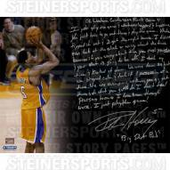 """Los Angeles Lakers Robert Horry Story Signed 16"""" x 20"""" Photo"""