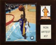 "Los Angeles Lakers Ron Artest 12"" x 15"" Player Plaque"