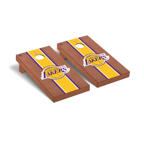 Los Angeles Lakers Rosewood Stained Cornhole Game Set