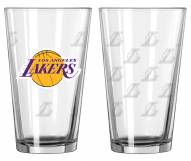 Los Angeles Lakers Satin Etch Pint Glass - Set of 2