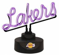 Los Angeles Lakers Script Neon Desk Lamp
