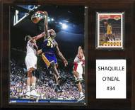 """Los Angeles Lakers Shaquille O'Neal 12"""" x 15"""" Player Plaque"""