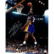 """Los Angeles Lakers Shaquille O'Neal Dunk in Purple Signed 16"""" x 20"""" Photo"""