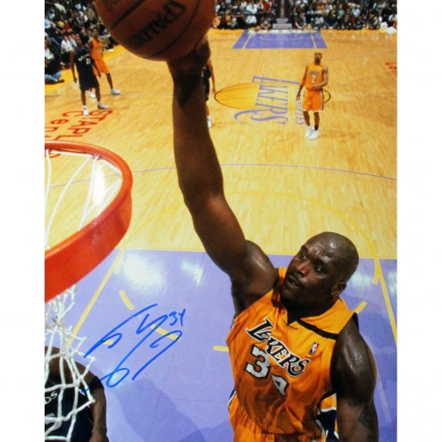 """Los Angeles Lakers Shaquille O'Neal Jersey Signed 16"""" x 20"""" Photo"""