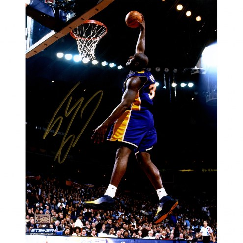 """Los Angeles Lakers Shaquille O'Neal Purple Jersey Dunk Signed 16"""" x 20"""" Photo"""