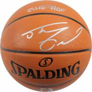 Los Angeles Lakers Shaquille O'Neal Signed NBA Basketball with 7 Career Stat