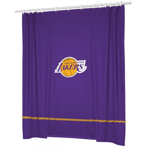Los Angeles Lakers Sidelines Shower Curtain