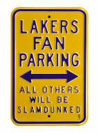 Los Angeles Lakers Slam Dunked Parking Sign