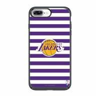 Los Angeles Lakers Speck iPhone 8 Plus/7 Plus Presidio Stripes Case