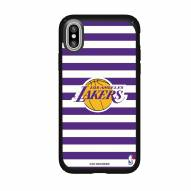 Los Angeles Lakers Speck iPhone XS Max Presidio Pro Stripes Case