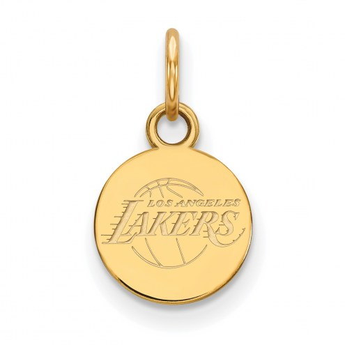 Los Angeles Lakers Sterling Silver Gold Plated Extra Small Pendant