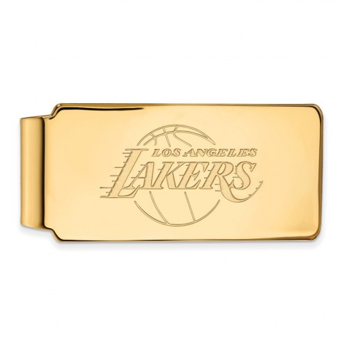 Los Angeles Lakers Sterling Silver Gold Plated Money Clip