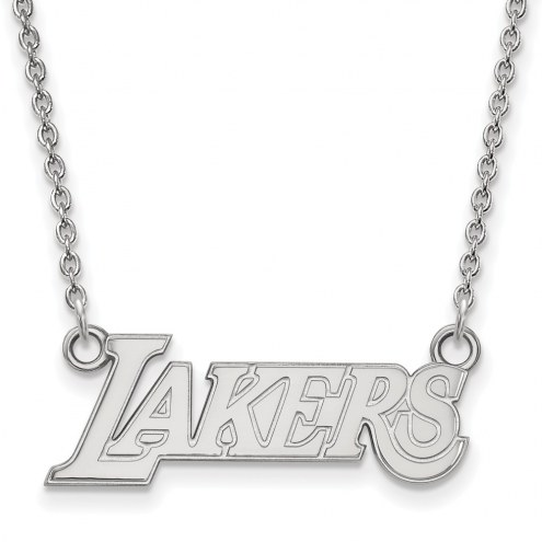 Los Angeles Lakers Sterling Silver Small Pendant Necklace
