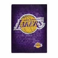Los Angeles Lakers Street Raschel Throw Blanket