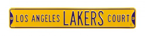 Los Angeles Lakers Street Sign