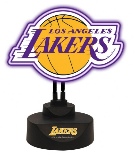 Los Angeles Lakers Team Logo Neon Light