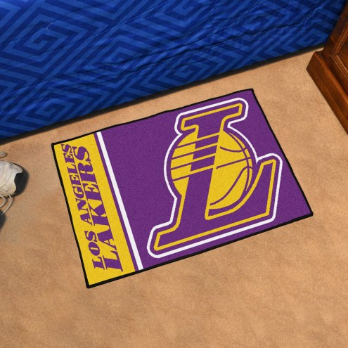 Los Angeles Lakers Uniform Inspired Starter Rug
