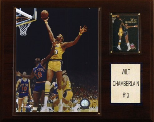 """Los Angeles Lakers Wilt Chamberlain 12"""" x 15"""" Player Plaque"""