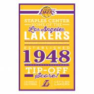 Los Angeles Lakers Established Wood Sign