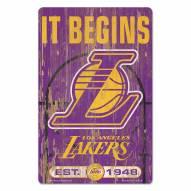 Los Angeles Lakers Slogan Wood Sign