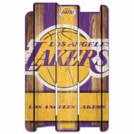 Los Angeles Lakers Wood Fence Sign