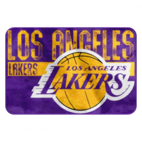Los Angeles Lakers Worn Out Bath Mat