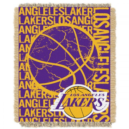 Los Angeles Lakers Woven Jacquard Throw Blanket